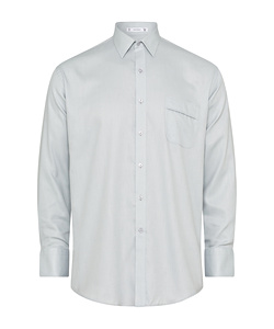 Men's Classic Relaxed Fit Shirt Cotton Polyester Dobby Herringbone Easy Care