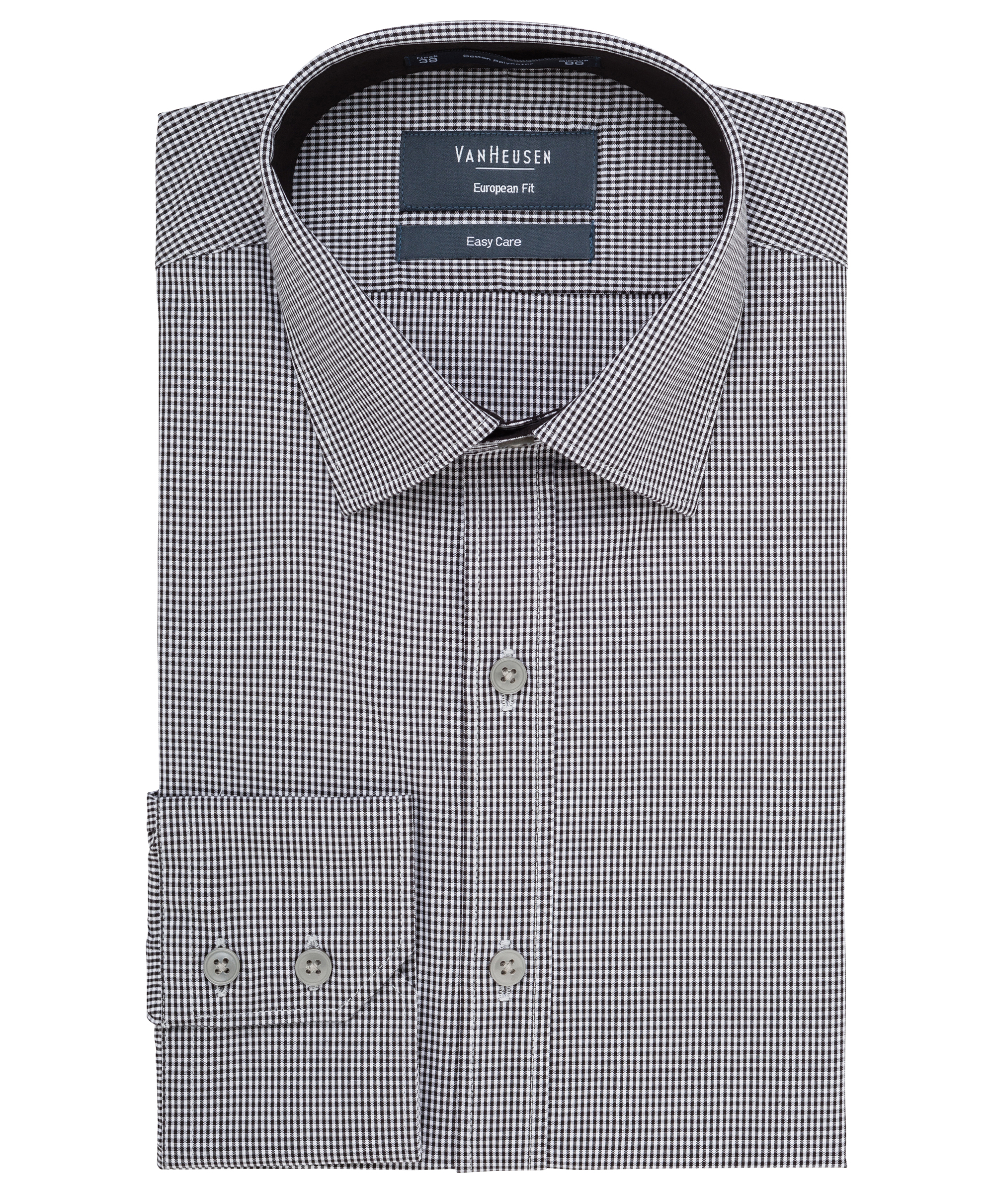 32c34f39d9e712 Van Heusen. Men's European Tailored Fit Shirt Cotton Polyester Yarn Dyed  Check Easy Care