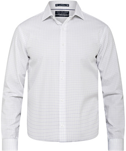 Men's European Tailored Fit Shirt 100% Premium Cotton Check