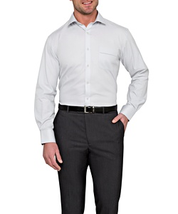 Men's Classic Relaxed Fit Shirt Cotton/Polyester Mini Herringbone