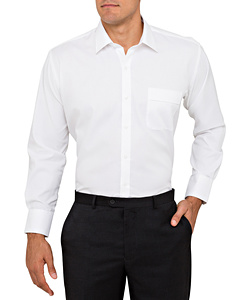 Men's Classic Relaxed Fit Shirt Cotton/Polyester Mini Herringbone
