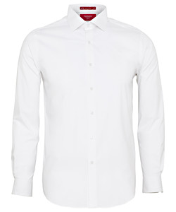Men's Slim Fit Shirt Cotton Stretch Solid Dyed Poplin