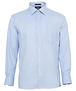 Men's European Tailored Fit Shirt Cotton Polyester Mini Herringbone Easy Care