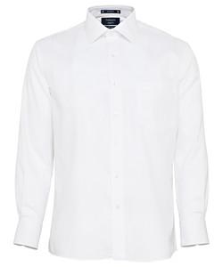 Men's European Tailored Fit Shirt Cotton Polyester Mini Herringbone Easy Care