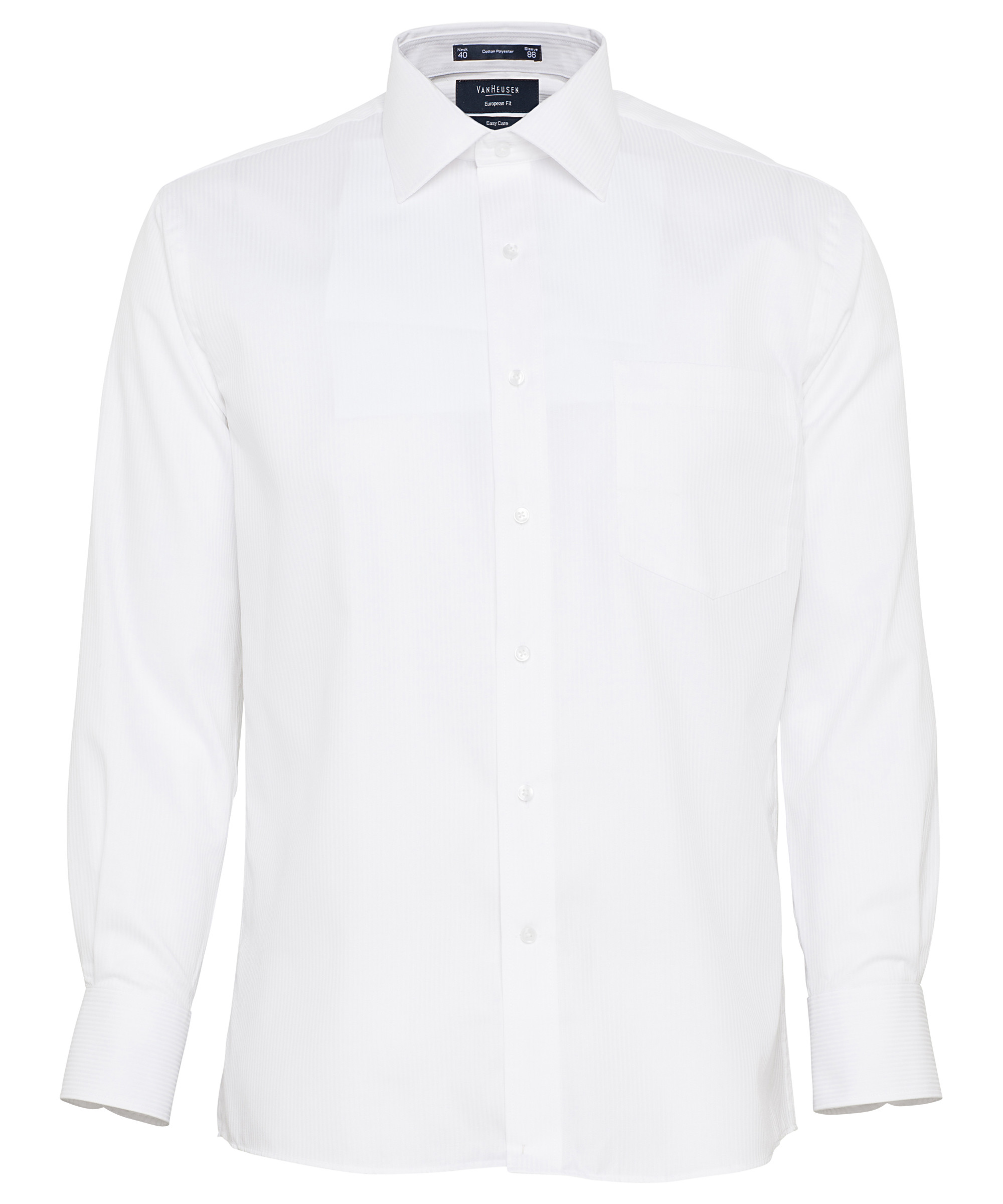 7c92f99e087 Van Heusen. Men s European Tailored Fit Shirt Cotton Polyester Mini  Herringbone Easy Care