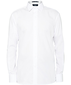 Men's European Tailored Fit Shirt 100% Cotton Solid Dyed Poplin French Cuff Easy Care