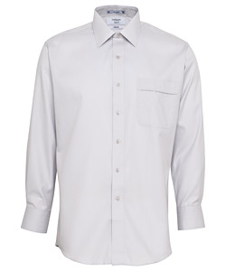 Men's Classic Relaxed Fit Shirt Cotton Polyester Mini Herringbone Easy Care