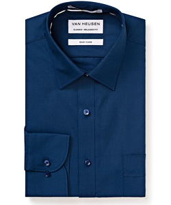 Men's Polyester Cotton Easy Care Poplin Classic Fit Shirt
