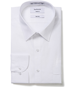 Men's Classic Relaxed Fit Shirt Polyester Cotton Solid Colour Easy Care