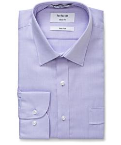 Men's Cotton Polyester Dobby Herringbone Classic Fit Shirt