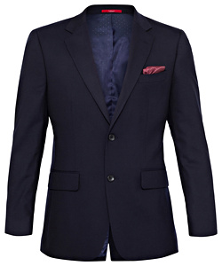 Wool Blend Navy Twill Suit Jacket with MOVE Technology - PHASE OUT STYLE