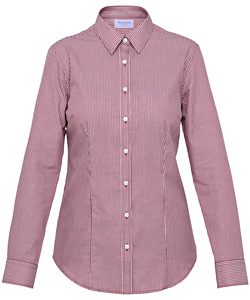 Cotton Polyester Yarn Dyed Stripe Classic Fit Shirt