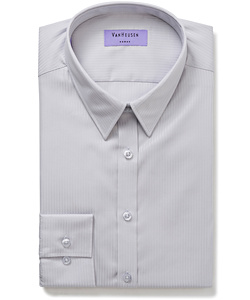 Women's Classic Fit Shirt Cotton Polyester Mini Herringbone Easy Care