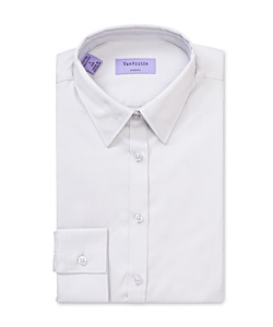 Women's Classic Fit Shirt Cotton Polyester Mini Herringbone Easy Care