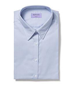 Women's Classic Fit Shirt Cotton Polyester Mini Herringbone Short Sleeve Easy Care