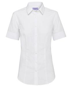 Cotton Polyester Poplin Short Sleeve Classic Fit Shirt