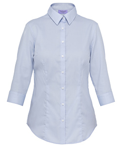 Cotton Polyester Mini Herringbone 3/4 Sleeve Classic Fit Shirt