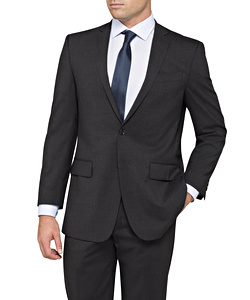 Stretch Wool Blend Plain Weave Suit Separate Jacket - Size 136-152