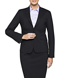 Stretch Wool Blend Plain Weave Suit Separate Jacket