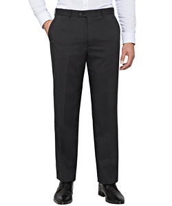 Stretch Wool Blend Plain Weave Suit Separate Trouser