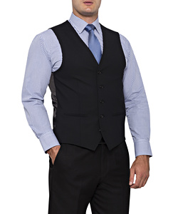 Men's Stretch Wool Blend Plain Weave Suit Separate Vest
