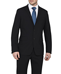 Men's Stretch Wool Blend Plain Weave Suit Separate Euro Blazer