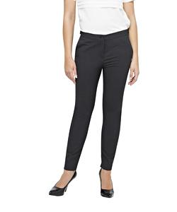 Women's Stretch Wool Blend Plain Weave Suit Separate Slim Fit Trouser