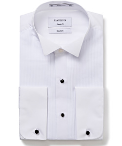 PHASE OUT STYLE - Formal/Dinner Wing Collar Pleated Front Classic Fit Shirt