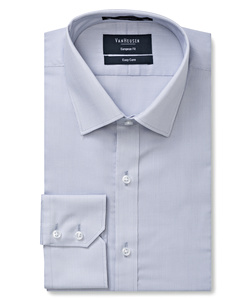 PHASE OUT STYLE -  Men's European Tailored Fit Shirt Polyester Cotton Yarn Dyed End on End Easy Care