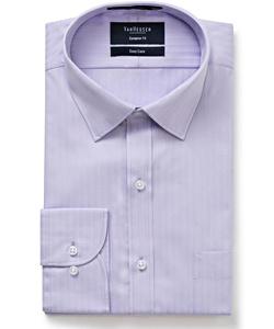PHASE OUT STYLE - Men's Cotton Polyester Herringbone Stripe European Fit Shirt