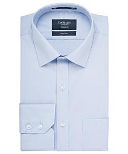 Men's Cotton Polyester Mini Herringbone European Fit Shirt