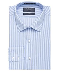 Men's Cotton Polyester Yarn Dyed Stripe European Fit Shirt