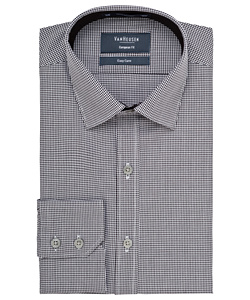 Men's Cotton Polyester Yarn Dyed Check European Fit Shirt