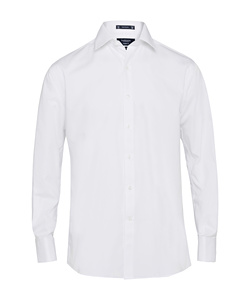 Cotton/Polyester Solid Dyed Poplin European Fit Shirt