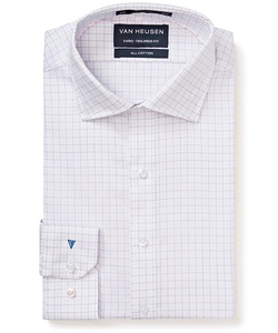 Men's Premium 100% Cotton Checked Euro Fit Shirt