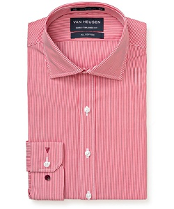Men's Premium 100% Cotton Striped European Fit Shirt