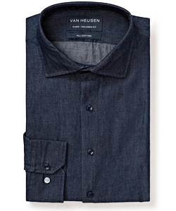 Men's Premium 100% Denim Cotton European Fit Shirt