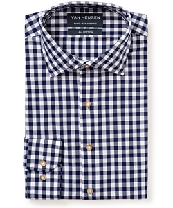 Men's Premium 100% Cotton Checked European Fit Shirt