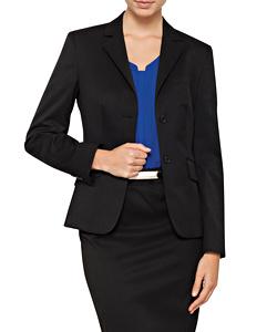 Womens Single Breasted Two Button Plain Twill Bracks Jacket