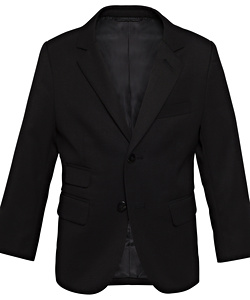 Youth Black Plain Twill Suit Separates Jacket