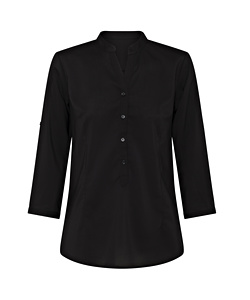 Women's Relaxed Fit Jersey Top Polyester Elastane Three Quarter Sleeve