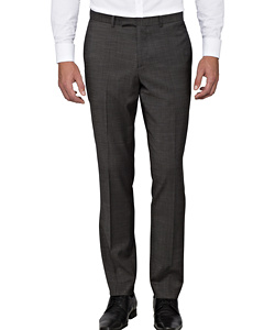Charcoal Wool Flat Fronted Suit Pants