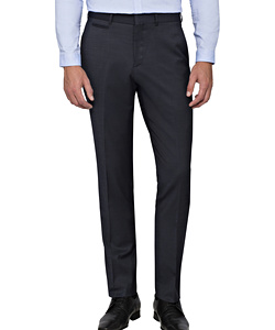 PHASE OUT STYLE - Ink Wool Blend Flat Front Suit Pants