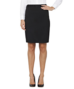 Womens Black Plain Twill Suit Separates Ezifit Skirt