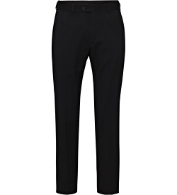 Black Plain Twill Suit Separates Ezifit Trouser