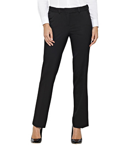 Womens Black Plain Twill Suit Separates Ezifit Trouser