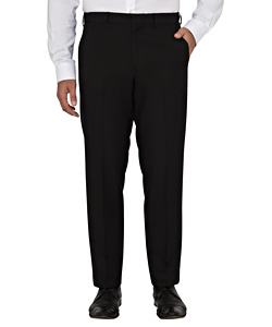 Easy Care Flat Front Trouser with Extendable Waistband