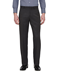 Easy Care Polyester Soft Touch Stripe Flat Front Trouser
