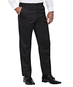 Wool Blend Flat Front Trouser with Ezi Fit Waistband