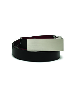 Van Heusen Plate Buckle Black/Red Reversible Ladies Belt